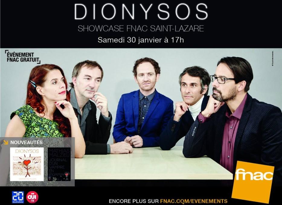 Dionysos en showcase le 30 janvier